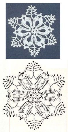 crochet Free patterns of wonderful crocheted snowflakes, to weave with love! Many snowflakes to crochet / crochet. Choose your favorites and start making yours today. Snowflakes are a fantastic idea … Read more … → Crochet Snowflake Pattern, Crochet Motifs, Crochet Snowflakes, Crochet Diagram, Doily Patterns, Crochet Stitches, Crochet Christmas Ornaments, Christmas Crochet Patterns, Holiday Crochet