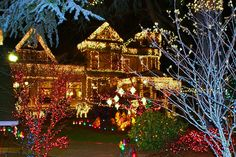 House of a million lights in Portland oregon