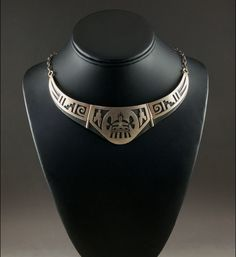 Hopi Overlay Breast Plate Necklace