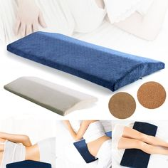 Memory Foam Sleeping Lumbar Pillow Waist Back Support Pad Pain Relief Cushion