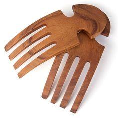 Darlin - Acacia Wood Salad Server Hands