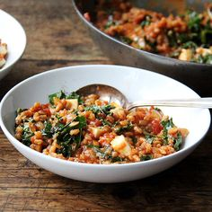 Farro Risotto with Greens and Feta recipe on Food52 from Yottam Ottolenghi