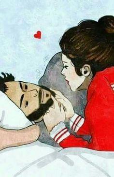 I love you jaanu till our last day bebé. Love Cartoon Couple, Cute Couple Comics, Cartoon Girl Images, Cute Couple Art, Girl Cartoon, Cute Bunny Cartoon, Cute Love Cartoons, Cute Muslim Couples, Cute Couples