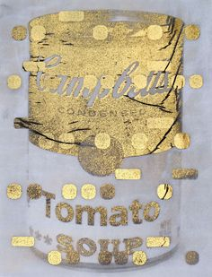 it's all derivative: campbells soup in gold, negative, 2012 by bill claps
