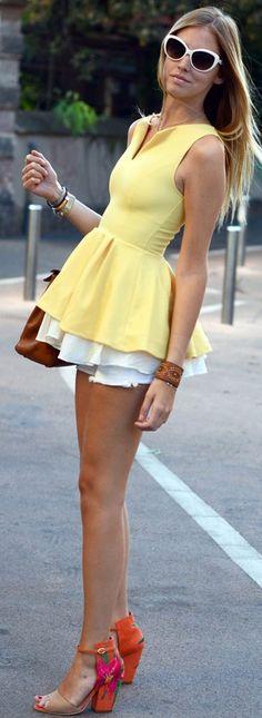 peplum street style  ♥✤ | Keep the Glamour | BeStayBeautiful