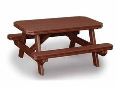 Amish Polywood Garden Dining Table in Weatherwood