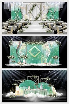 Modern small clear green personalized custom wedding effect map Wedding Stage Design, Wedding Stage Decorations, Backdrop Decorations, Wedding Designs, Backdrops, Wedding Ideas, Indian Wedding Receptions, Wedding Mandap, Wedding Table