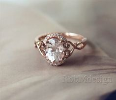 Rings Engagement New Design Christmas Discount ! Oval Cut Morganite Ring Halo Diamond Ring Rose Gold Wedding Ring Morganite Engagement Ring - In loooove with this ring. Would want the center stone to be (natural) light blue topaz, though. Morganite Engagement, Wedding Engagement, Engagement Rings, Ring Set, Ring Verlobung, Wedding Rings Rose Gold, Wedding Bands, Gold Wedding, Dream Wedding