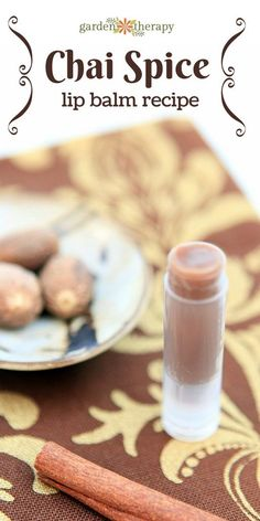 The best DIY Beauty Tips : Illustration Description Chai spice lip balm is filled with spices that wake you up and make your lips tingle. This recipe is spicy and will encourage blood flow to the l… Homemade Lip Balm, Diy Lip Balm, Homemade Facials, Chai, Diy Lip Gloss, Lip Balm Recipes, Lipgloss, Homemade Beauty Products, Lush Products