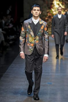 FALL 2013 MENSWEAR  Dolce & Gabbana /   Domenico Dolce and Stefano Gabbana herded the menfolk from a couple of Sicilian villages onto their catwalk for Spring, and the result was so curiously profound that it's no wonder they did the same thing for their Fall show.