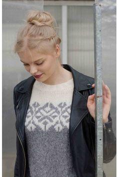 Maya Fargevalg - GARNIUS - FARGEVALG - STRIKKEPAKKER Knitting Projects, Knitting Patterns, Knitting Ideas, Easy Yarn Crafts, Handicraft, Bunt, Knitwear, Wool, Hair Styles