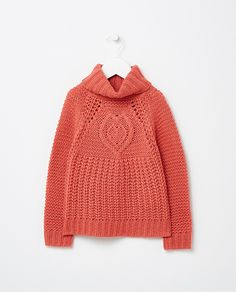 Jersey de niña Sfera en naranja de fantasía