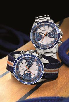 Tudor Heritage Chrono Blue 70330B on Strap and Bracelet