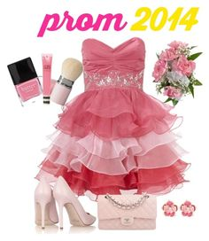 """Prom 2014"" by terry-tlc ❤ liked on Polyvore featuring Lipsy, Jimmy Choo, Chanel, philosophy, Butter London and Topshop"