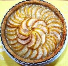 Easter dessert found.  Holy Cow!: Pear And Almond Tart
