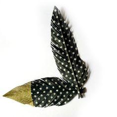 Monochrome Fake Feather  Black & White Polka Dots  Washi by kaetoo