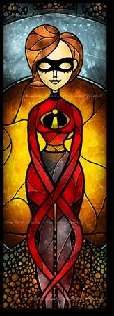 Mrs. Incredible Stained Glass ♠ re-pinned by http://www.wfpblogs.com/author/rachelwfp/