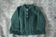 Merino Matinee Jacket, Matinee Jacket Style 1, Size 6-9 months, Green Matinee Jacket, Winter Baby Clothing, by BobtailsBoutique on Etsy