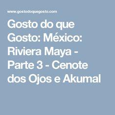 Gosto do que Gosto: México: Riviera Maya - Parte 3 - Cenote dos Ojos e Akumal