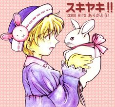Momiji, the rabbit, from Fruits Basket. So cute! Fruits Basket, Image Boards, Rabbit, Comic Books, Animation, Comics, Cute, Anime, Fictional Characters