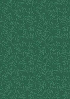 Christmas Berries Green - Cotton