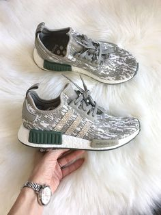 659b25d88 Adidas NMD Runner Made with SWAROVSKI® Xirius Rose Crystals -  tan olive white