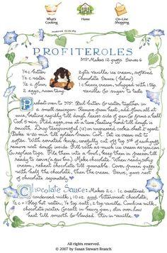 Profiteroles-Susan Branch