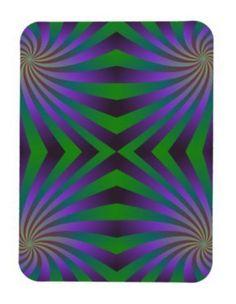 Seamless spiral pattern rectangular photo magnet $5.50 *** Multicolor seamless spiral pattern graphic design - flexi magnet