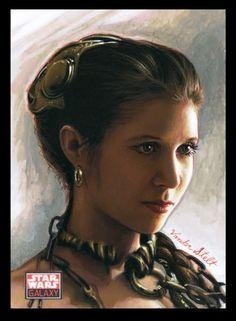 Princess Leia sketch card by Jerry Vanderstelt