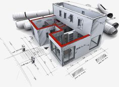 Architectural plan concept for a new home
