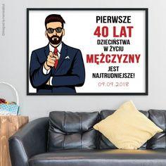 Śmieszny plakat na dowolne urodziny mężczyzny. Gifts For Him, Most Beautiful Pictures, Haha, Humor, Memes, Funny, How To Make, Fictional Characters, Massage
