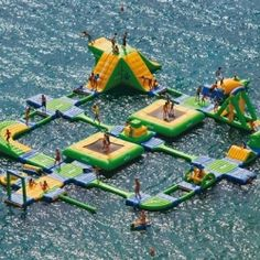 Inflatable Water Park by Wibit..... One day i want to be rich enough to have my own