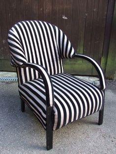 Art Deco Club Chair = inspiration for stripes!