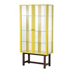 STOCKHOLM Glass-door cabinet - yellow - IKEA