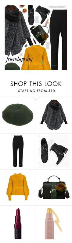 """Gather 'Round: Friendsgiving"" by beebeely-look ❤ liked on Polyvore featuring Bassike, Bobbi Brown Cosmetics, Puma, StreetStyle, streetwear, thanksgiving, friendsgiving and gamiss"