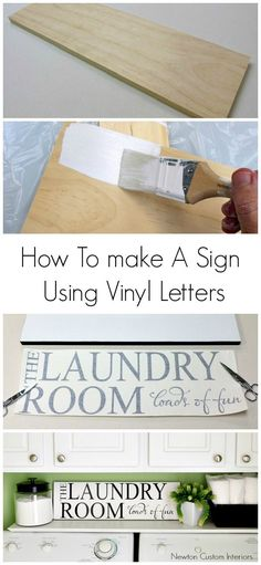 Learn how to make a sign using vinyl letters with this step-by-step tutorial, which makes this a popular pin!
