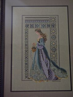 Celtic Spring Cross stitch with beautiful beads.  lavendar & Lace is the project producers.  My best work to date.