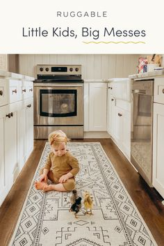 Cottage Kitchen Cabinets, Home Decor Kitchen, Home Organization Hacks, Organizing Your Home, Kid Friendly Rugs, Craftsman Living Rooms, British Colonial Decor, Machine Washable Rugs, Farmhouse Remodel