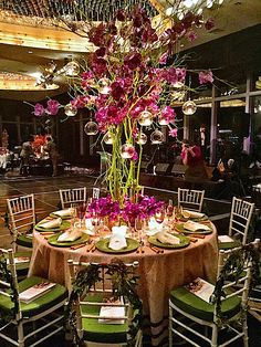Frank de Biasi Orchid Dinner 2015 table - sponsored by Veranda Magazine