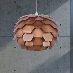 Large Areli Pendant Lamp - Copper - by arteHome #MONOQI