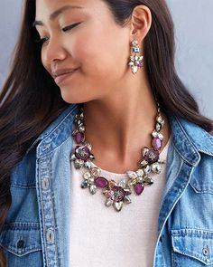 Artisan Floral Burst Statement Necklace
