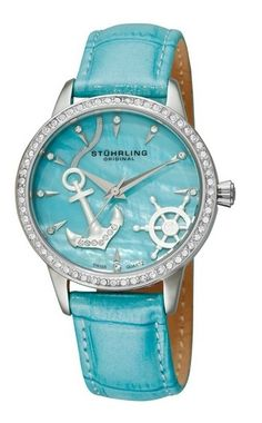 love the anchor and wheel..with a metal band this would be the perfect watch