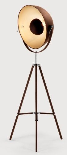 The Chicago Floor Lamp in Copper and Gold. Inspired by retro film sets, make a bold statement in any room of the house. Diy Floor Lamp, Arc Floor Lamps, Brass Floor Lamp, Brass Lamp, Modern Floor Lamps, Metal Floor, Pendant Lamps, Industrial Style Floor Lamp, Industrial Lighting
