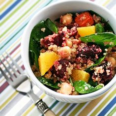 Quinoa Salad with Roasted Beets