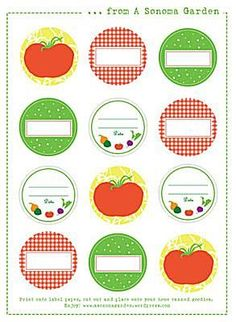 Add a Finishing Touch to Your Canning Jars with These Free Labels: A Sonoma Garden's Canning Labels