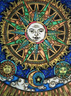 ➳➳➳☮ American Hippie Art - Sun