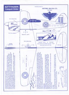 Make your own balsa 'plane instructions (or print out and have a cool paper 'plane!)