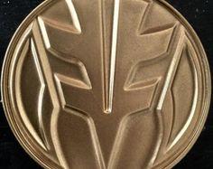 MMPR White Ranger inspired Chest Emblem - 3D printed