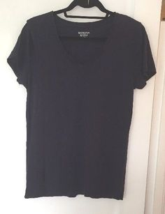 Merona Navy Tee Shirt Womens Size XL/TG Ultimate Cotton T Shirt Short Sleeve #Merona #BasicTee