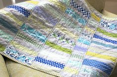 a summery blue & green quilt. by CB Handmade, via Flickr